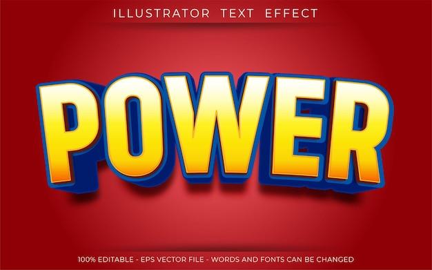 Эффект power text, редактируемый стиль 3d-текста