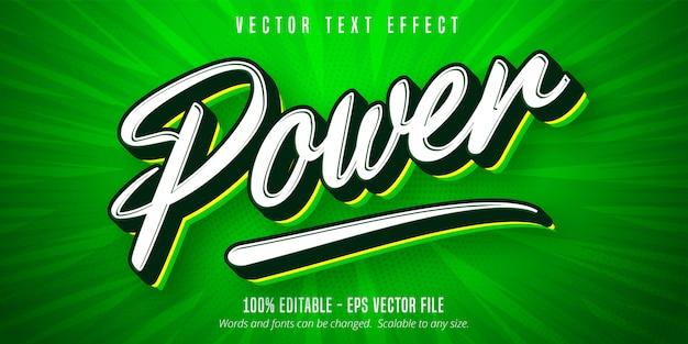 Power text, pop art style editable text effect