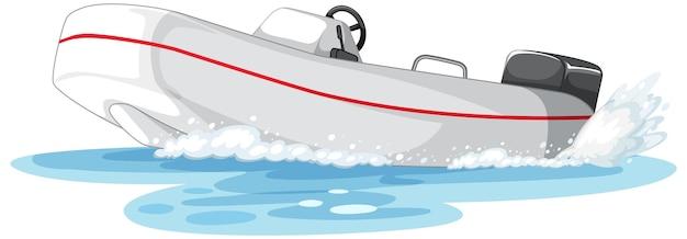 水上でのパワーボートまたはスピードボート