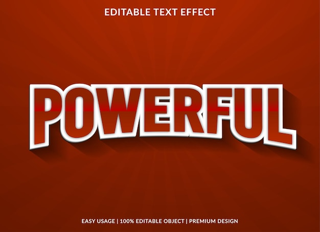 Мощный редактируемый текстовый эффект премиум-стиля