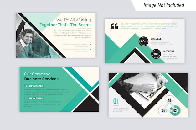 Powerpoint presentation and slide show layout design. use for business annual report.
