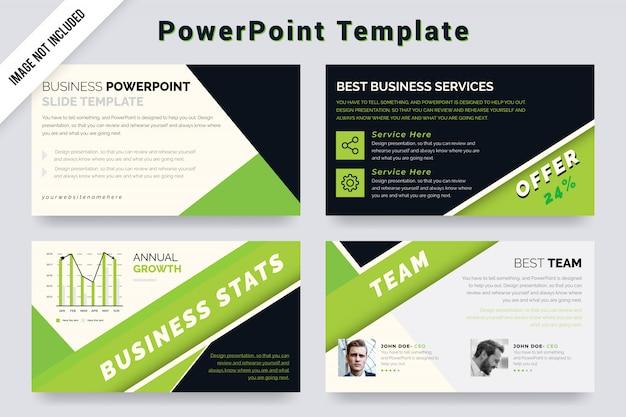 Мягкий зеленый и черный цвет powerpoint презентация и слайд-шоу шаблон дизайна.