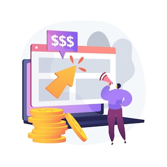 Ppc campaign abstract concept illustration