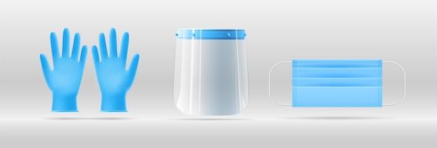 감염 예방 인포 그래픽 용 개인 보호 장비의 ppe 3d 템플릿