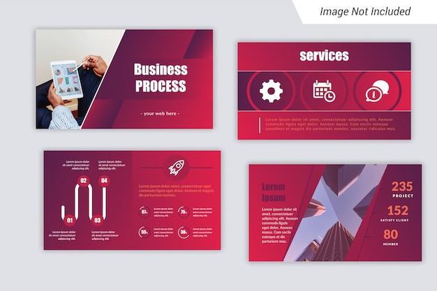 Шаблон бизнес-презентации (ppt) с уникальным infograph.