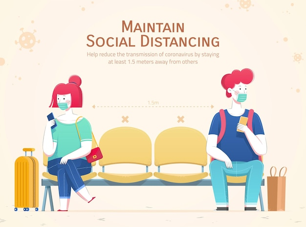 社会的距離を練習する