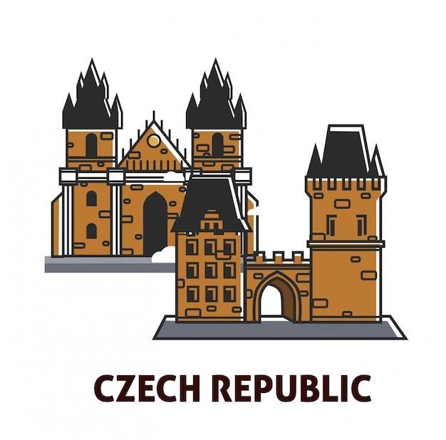 Prague castle in czech republic sightseeing landmark royal symbol for travel