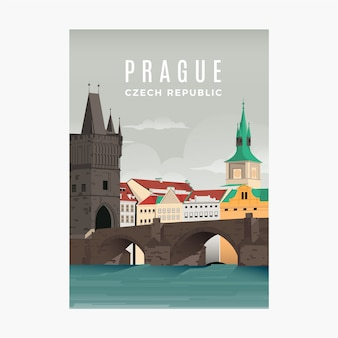 Prague promotional flyer template