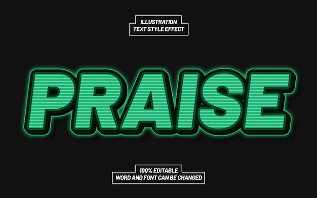 Praise 3d bold text style effect