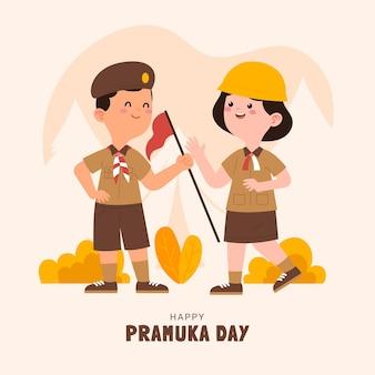 プラムカの日のイラスト