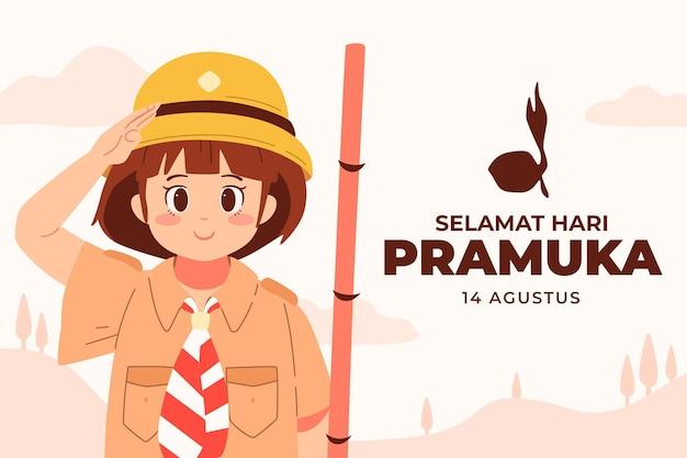 Pramuka day illustration