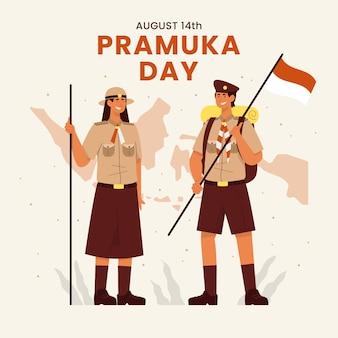 Illustrazione del giorno di pramuka