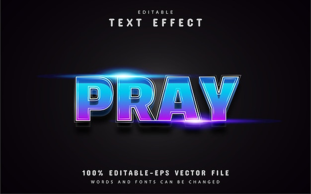 Pray gradient text effects