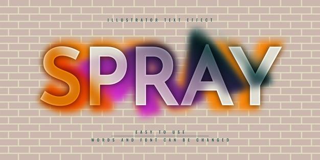 Дизайн шаблона редактируемого текстового эффекта pray illustrator