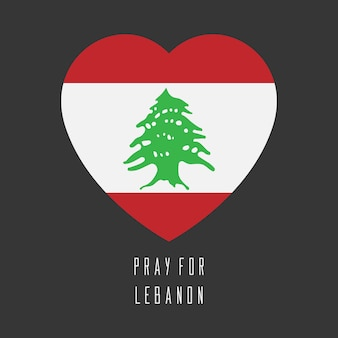 Pray for lebanon vector design with map