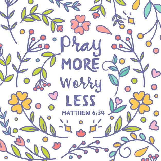 Pray more worry less card