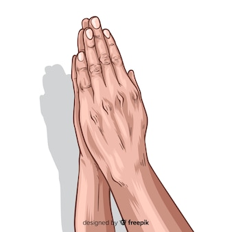 Praying hands background
