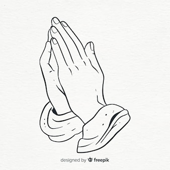 Praying hands background