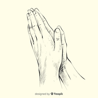 기도 손 배경