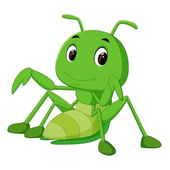 Praying mantis cartoon