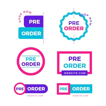 Pre-order badge collection