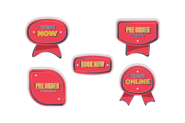 Pre-order badges collection