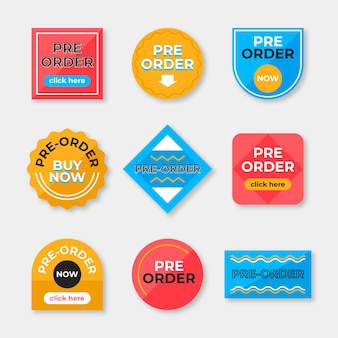 Pre-order label collection Free Vector