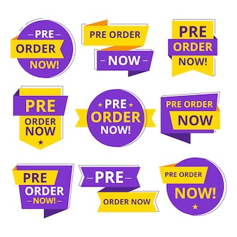 Pre-order labels collection