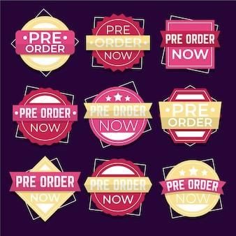 Set di etichette pre-ordine
