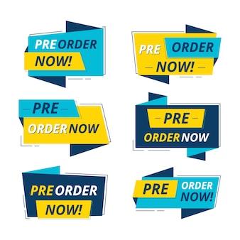 Pre-order labels set