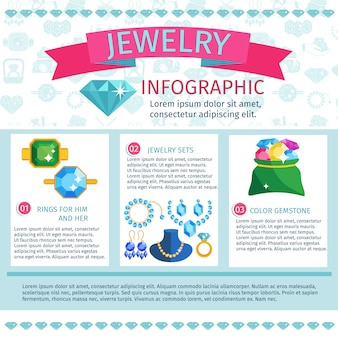 Precious jewels infographics