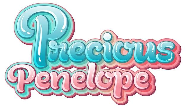 Prezioso disegno del testo del logo penelope