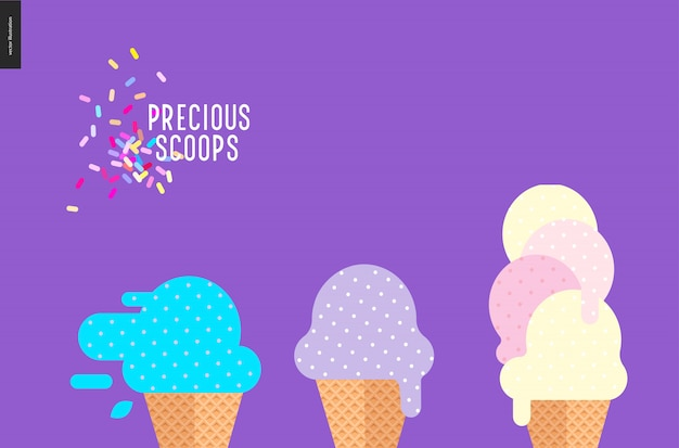 Precious scoops on purple
