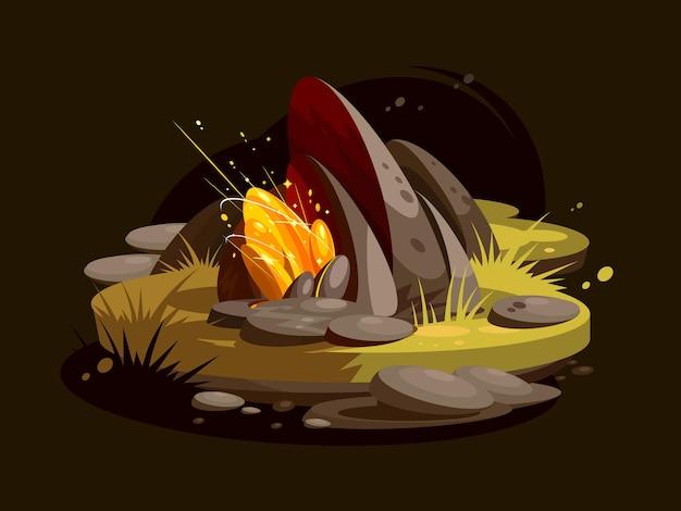Драгоценный камень золото. блестящие роскошные яркие светящиеся драгоценные камни. иллюстрация