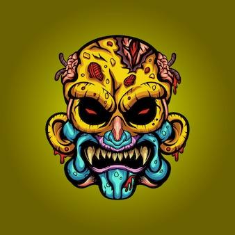Predatory zombie monsters  illustration