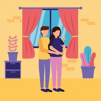Сцена беременности и материнства