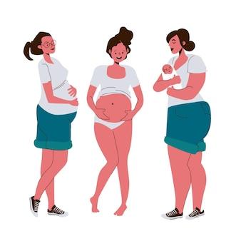 Сцены беременности и родов