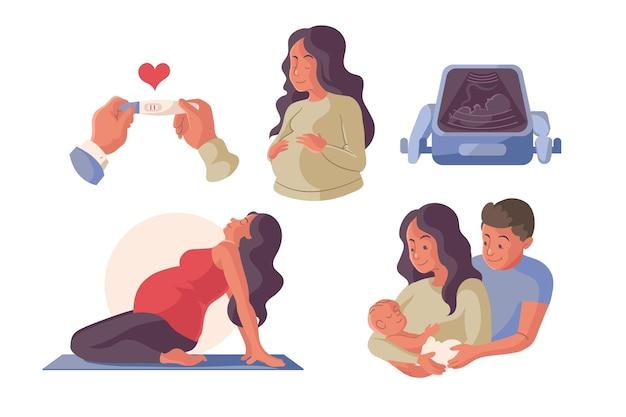 임신과 출산 장면