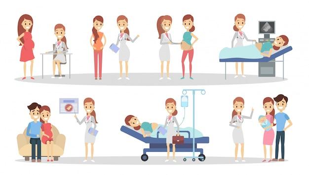 クリニックでの妊娠。 x線から新生児まで。