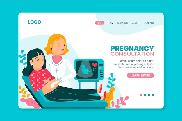 Pregnancy consultation - landing page