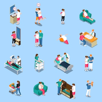 Pregnancy isometric characters