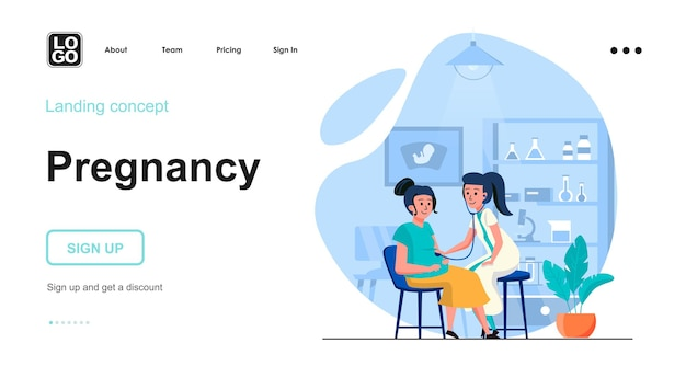 Pregnancy landing page template