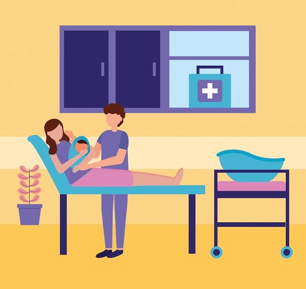 Pregnancy and maternity scene