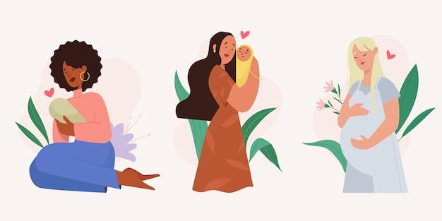 Scene di gravidanza e maternità