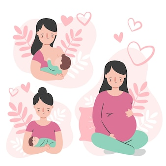 Pregnancy and maternity scenes