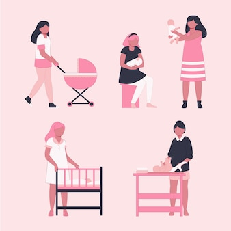 Pregnancy and maternity scenes