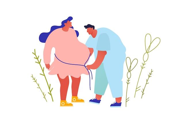 Медицинское обследование беременности. беременная женщина на приеме у врача в клинике.