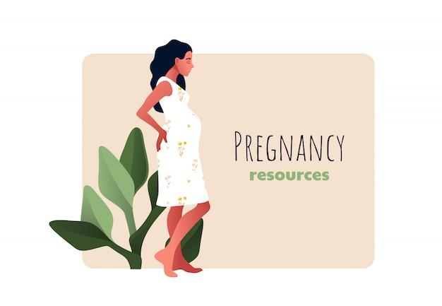 妊娠リソースのタイプ。悲しいと妊娠中の女の子。