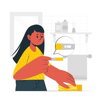 Иллюстрация концепции теста на беременность