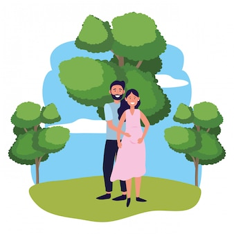 Pregnant couple avatar